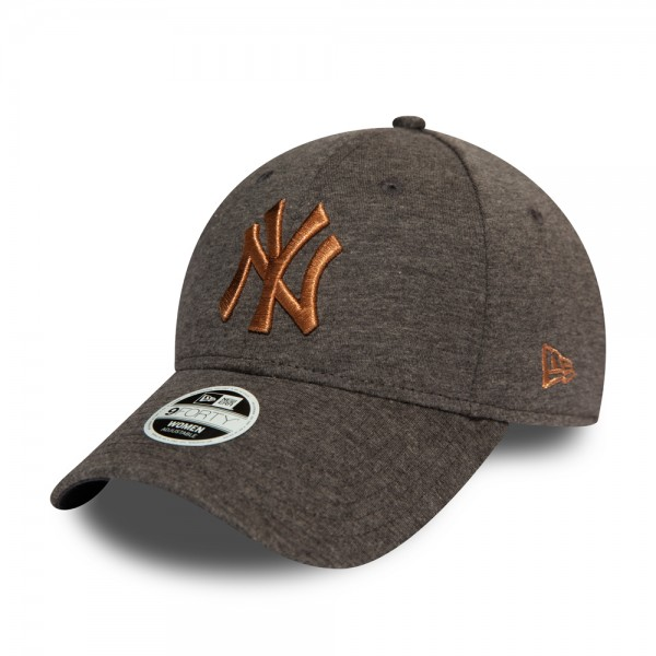 New York Yankees Womens Metallic Dark Grey 9FORTY Cap
